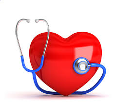 Big red heart with stethoscope