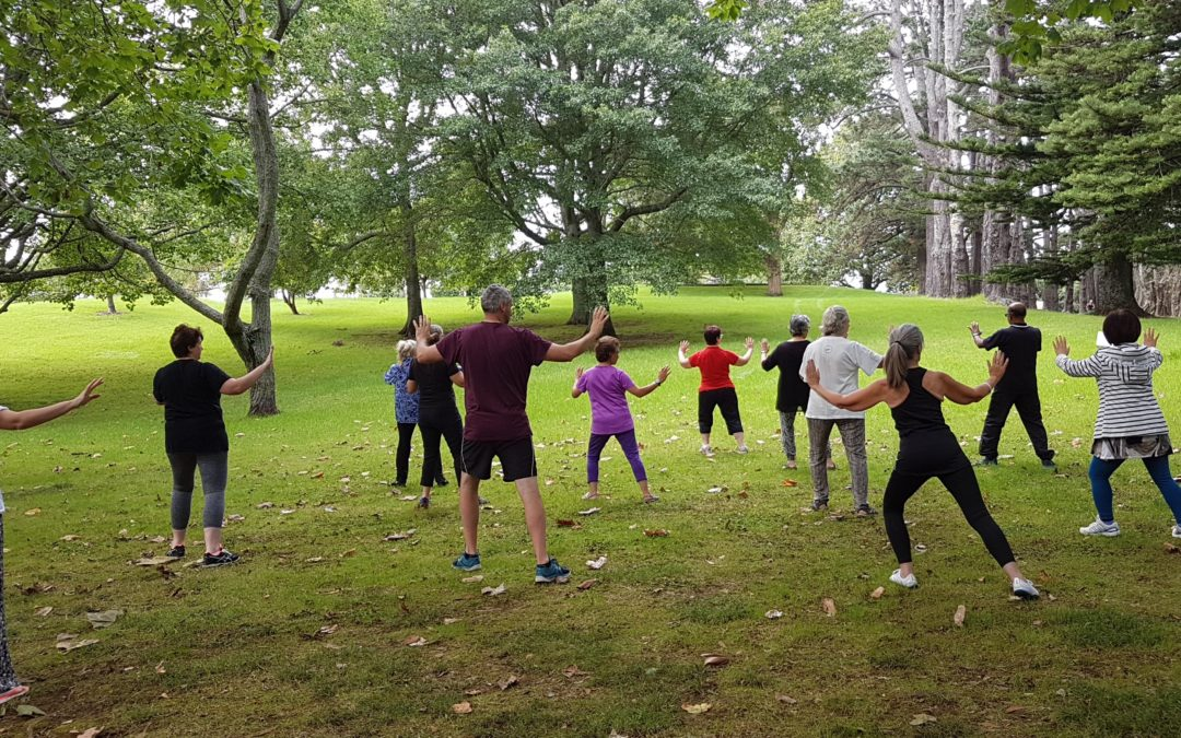 Free tai chi in Cornwall Park