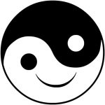 Yin and Yang with smiling face
