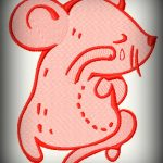 Cartoon of a crying mouse